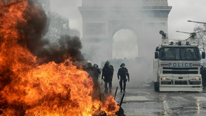 Scenes from Paris today during the latest yellow vest protest