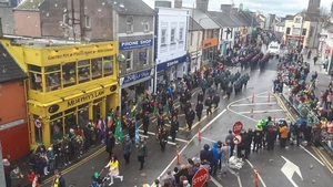 The St Patrick's Day parade in the town (Pic: Athlone Community Radio)