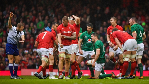 Ireland fell foul of referee Angus Gardner on numerous occasions in Cardiff