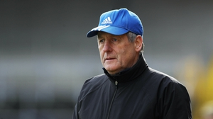Cork manager John Meyler watching today's relegation playoff
