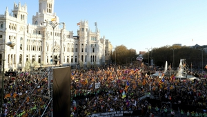 Protest organisers put the turnout at 120,000 while police gave a figure of 18,000