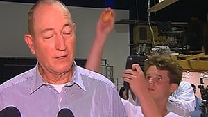 William Connolly cracked an egg on the head of Senator Fraser Anning