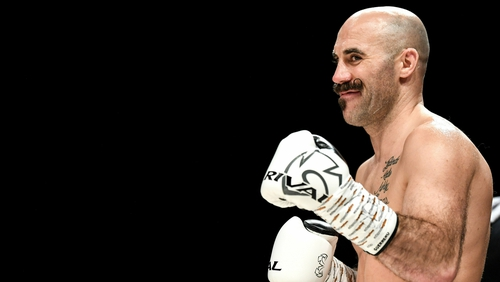 Spike O'Sullivan proved too strong for American Khiary Gray in Boston