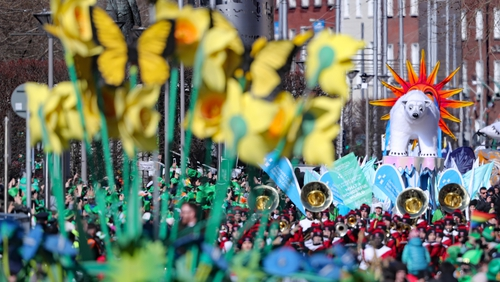 The flagship St Patrick's Day parade in Dublin attracts thousands of visitors annually