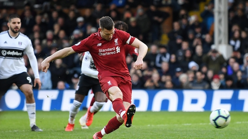 Milner scores the crucial late penalty