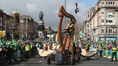 Thousands turned out in Dublin city centre for the colourful parade
