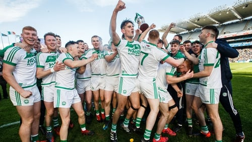Ballyhale players celebrate their All-Ireland final victory