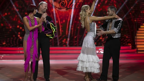 The moment of truth for (L-R) Giulia Dotta and Fred Cooke, and Emily Barker and Johnny Ward in the dance-off