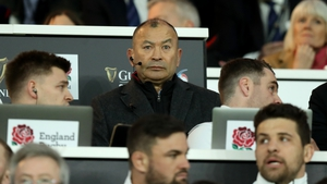 Eddie Jones watches on during yesterday's England-Scotland thriller in Twickenham