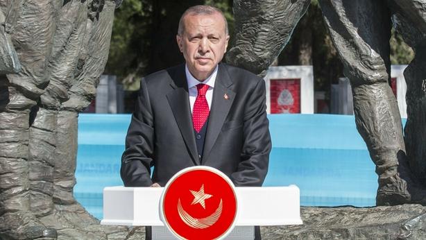 Recep Tayyip Erdogan in Canakkale in western Turkey