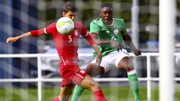 Jonathan Afolabi scored twice for Ireland