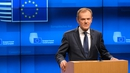 Donald Tusk was speaking in Brussels