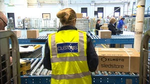An Post says the more than 16 million parcels that it gets from Britain every year will join this stream of incoming parcels being presented to Customs from January 1
