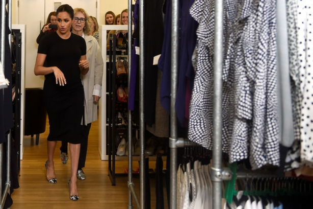 The Duchess of Sussex during her visit to Smart Works, in London, on the day she became their patron (Clodagh Kilcoyne/PA)