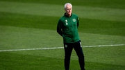 Mick McCarthy watches over Ireland training