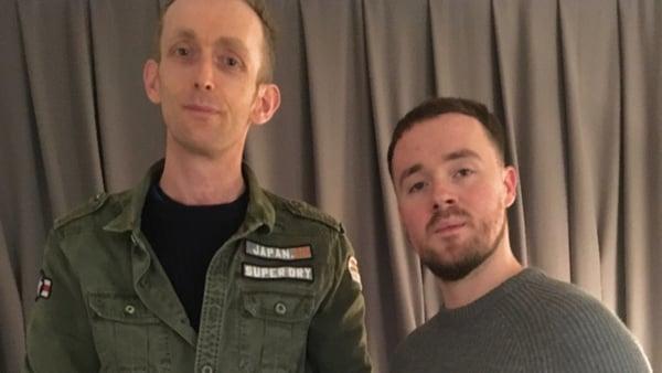 RTÉ 2fm's Dan Hegarty (L) with Maverick Sabre (R)