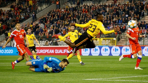 Belgium beat Russia 3-1 at home in their opening Euro 2020 qualifier