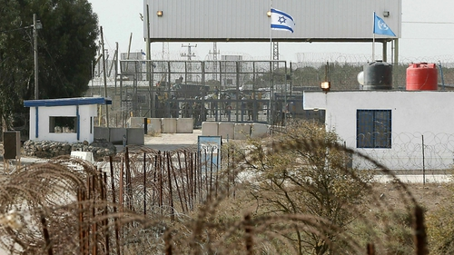 Part of the border crossing between Syria and Israeli-annexed Golan Heights