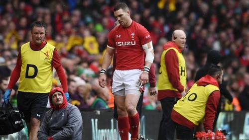 George North leaves the field of play against Ireland last weekend