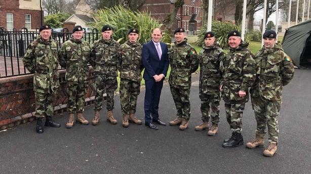 Paul Kehoe and troops