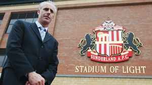 Mick McCarthy at his unveiling as Sunderland manager in 2002