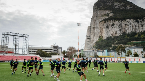 Gibraltar go into the clash against Ireland with ope