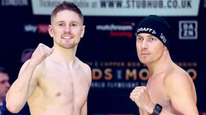 Jason Quigley and Mathias Eklund in London (Picture via Matchroom Boxing)
