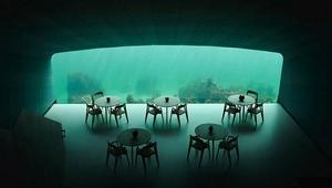 Under is Europe's first underwater restaurant. Photo: Ivar Kvaal