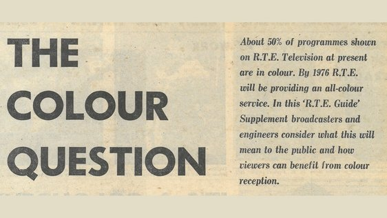 Colour TV Supplement in RTÉ Guide (1974)