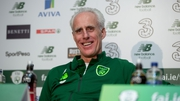 Mick McCarthy may be working on his back-hand at the Aviva on Tuesday night
