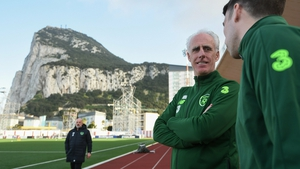 Mick McCarthy has a chat with skipper Seamus Coleman on the eve of the opening match with Gibraltar