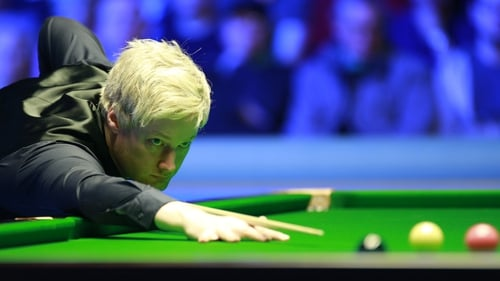 Neil Robertson is closing on the World Championship quarter-finals