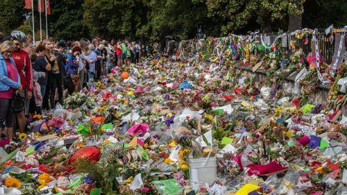 Tributes are paid to the victims of the Christchurch attack. Photo: Getty Images