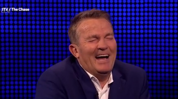 "Bradley Walsh - ""That is absolutely priceless!"" Screengrab: The Chase/ITV"