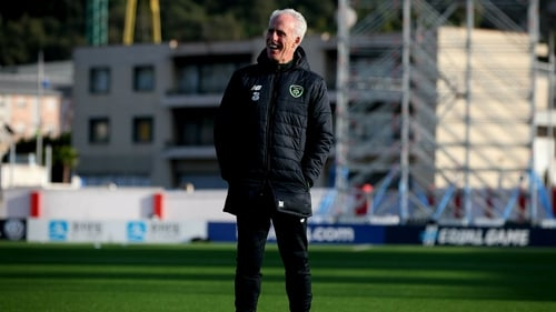 Manager McCarthy is good humour at training