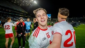 Tyrone's Kieran McGeary and Colm Cavanagh after last weekend's win over Dublin