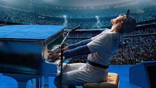 Taron Egerton as Elton John in the forthcoming biopic, Rocketman