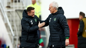 McCarthy and coach Robbie Keane