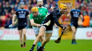 Dublin's Eamon Dillon tangles with Richie English of Limerick
