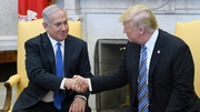 Mr Trump signed the document at the start of a meeting with Israeli Prime Minister Benjamin Netanyahu