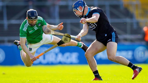Dublin's Eoghan O'Connell with Graeme Mulcahy of Limerick