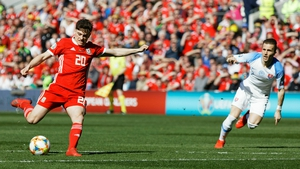 Daniel James scores the game's only goal