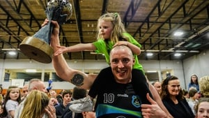 Kieran Donaghy celebrates as Tralee Warriors are crowned Men's Super League champions