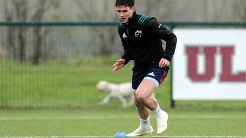 Joey Carbery training in Limerick