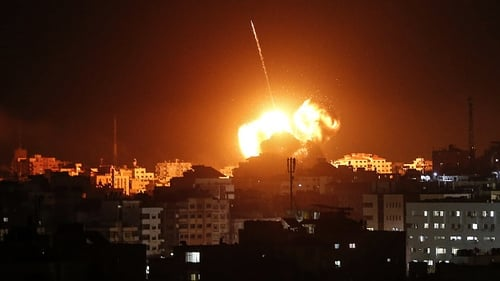 The Israeli military carried out out strikes on Hamas targets in Gaza