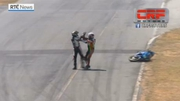 RTÉ News: Bikers clash after mid-race tangle in Costa Rica