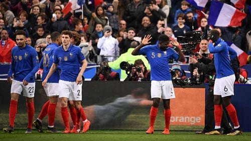 The world champions hit four past Iceland in the Stade de France