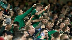 Ireland fans were in good voice