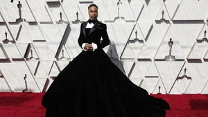Actor Billy Porter skirts into the  Academy Awards ceremony in February. Photo: EPA-EFE