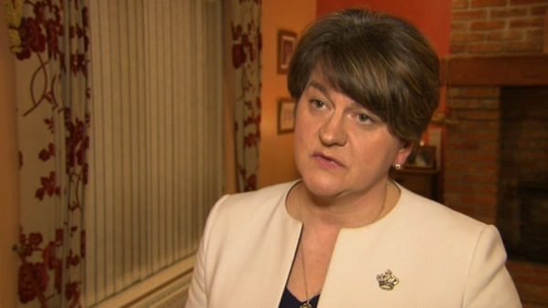 Arlene Foster said the DUP cannot agree to anything which threatens the union